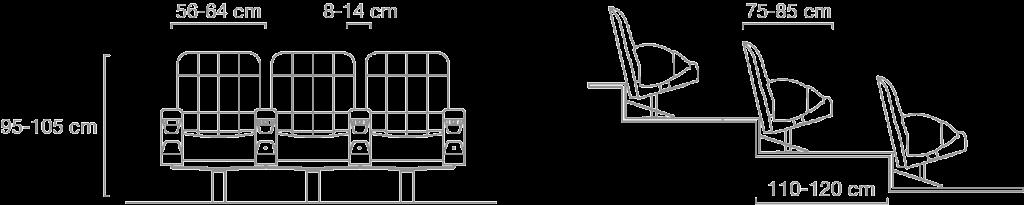 Schéma technique Fauteuil Gradin