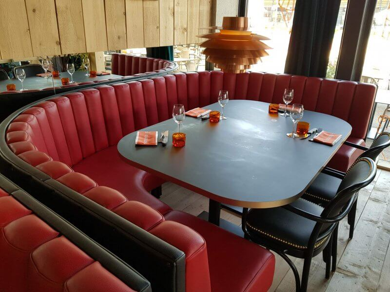 Kleslo - Banquette sur mesure de restaurant, Hall d'aceuil - Leader de fabrication de fauteuils cinéma, théâtre ... Cinéma banquette el asador